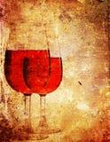 Papierwein Stockfoto