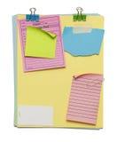 Papiery i notatki Obrazy Stock
