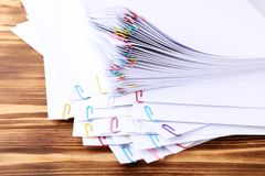 Papiery z paperclips Obraz Royalty Free