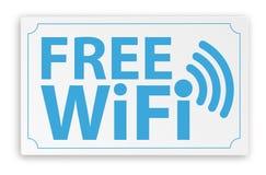 Papierzeichen geben WiFi frei stock abbildung