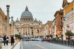 Papieska bazylika St Peter w watykanie Zdjęcie Royalty Free