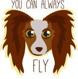 Papillion Fly Royalty Free Stock Image