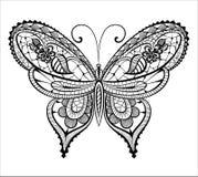 Papillon abstrait de dentelle Image libre de droits