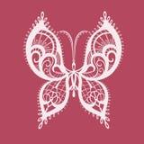 Papillon abstrait de dentelle Photo stock