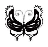 Papillon abstrait ornementé de silhouette Photo libre de droits