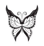 Papillon abstrait ornementé de silhouette Photographie stock libre de droits