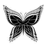 Papillon abstrait ornementé de silhouette Photo stock