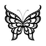 Papillon abstrait ornementé de silhouette Photos stock