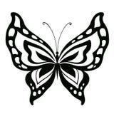 Papillon abstrait ornementé de silhouette Image stock