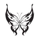 Papillon abstrait ornementé de silhouette Photos libres de droits