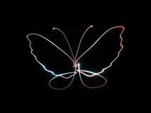 Papillon au néon Photo stock