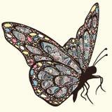 Papillon avec des modèles Illustration Libre de Droits