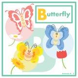 Papillon avec l'anglais d'amis A à Z Photo stock