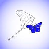 Papillon avec le drapeau de l'UE Photographie stock