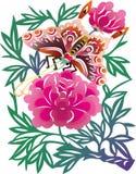 Papillon chinois Photo libre de droits