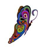 Papillon coloré de vintage Images libres de droits