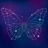 Papillon cosmique polygonal géométrique abstrait illustration de vecteur