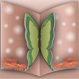 Papillon courant de papier de photographie Photos libres de droits