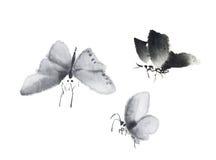 Papillon d'encre illustration libre de droits
