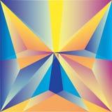 Papillon dans le style polygonal Photos stock