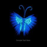 Papillon de bleu d'origami Photographie stock libre de droits
