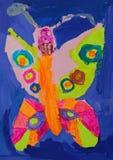 Papillon de Colourfull avec de grandes dents illustration de vecteur