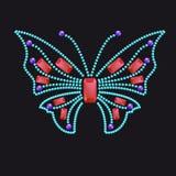 Papillon de différentes gemmes colorées Photos stock