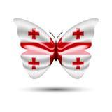 Papillon de drapeau de la Géorgie Images stock