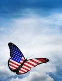 Papillon de drapeau des Etats-Unis Photographie stock