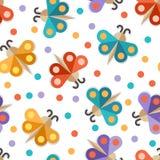 Papillon de papier abstrait, modèle sans couture Dos coloré de vecteur Image stock