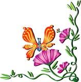Papillon de ressort photo stock