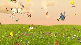 Papillon de ressort illustration stock