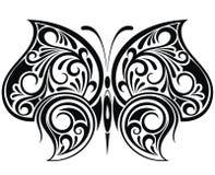 Papillon de tatouage Images libres de droits