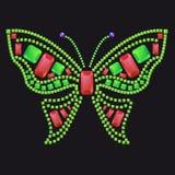 Papillon des gemmes colorées Image stock