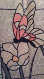 Papillon en verre Photographie stock libre de droits
