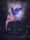 Papillon féerique Photo stock