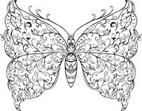 Papillon floral Photographie stock libre de droits