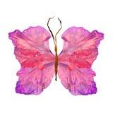 Papillon floral fait à partir de la fleur de glaïeul Image stock
