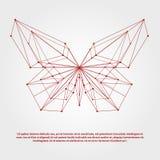 Papillon géométrique abstrait pour le logo, emblème, copie illustration stock