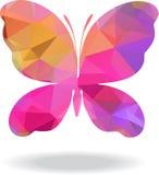 Papillon géométrique de mosaïque de vecteur Image libre de droits