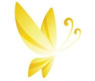 papillon jaune Photo stock