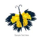 Papillon jaune d'origami Image libre de droits