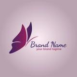 Papillon Logo Design Template Images libres de droits