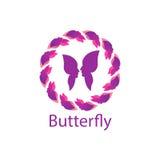 Papillon Logo Template Photographie stock libre de droits