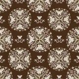 Papillon Mandala Pattern sur un fond de Brown illustration de vecteur