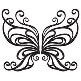Papillon ornemental de vecteur Photo stock