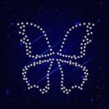 Papillon pointillé par diamant Photographie stock
