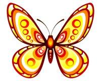 Papillon stylisé de couleur photographie stock