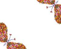 Papillon, symbole de l'amour, carte postale Photos stock
