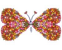 Papillon, symbole de l'amour, carte postale Photo libre de droits